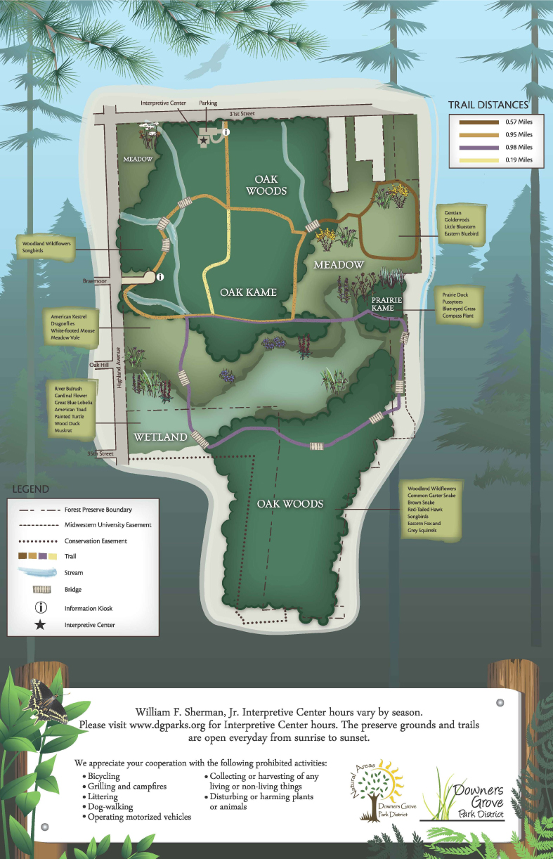 Lyman Woods trail Map